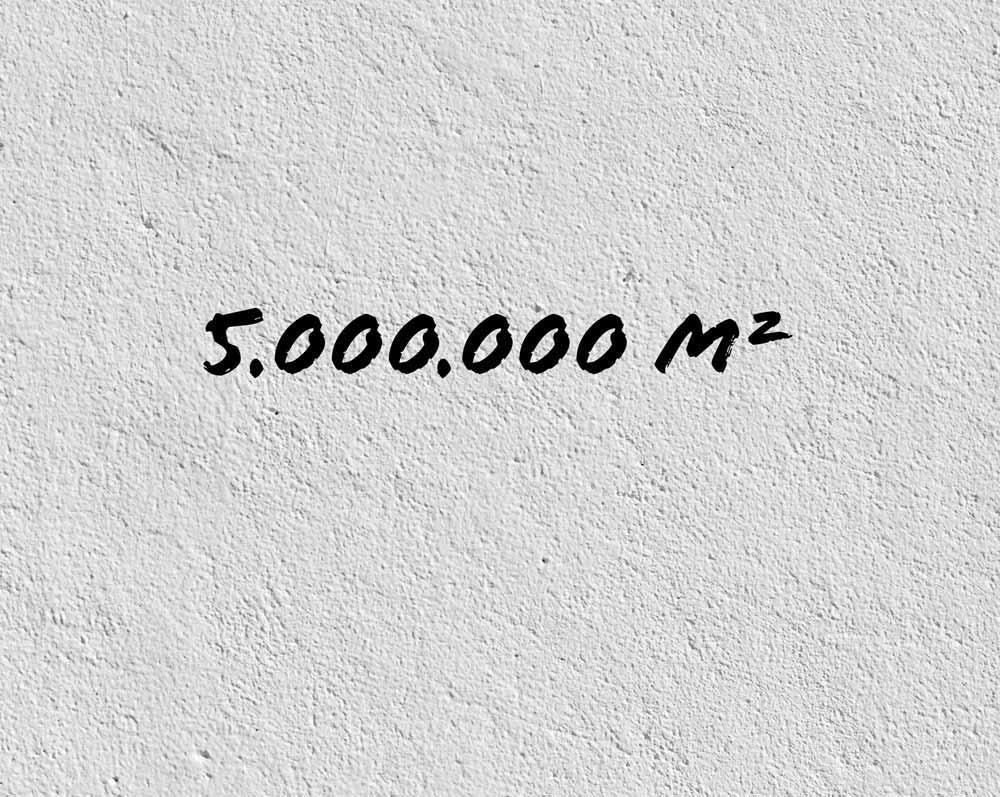 Zahl des Monats Oktober 2020: 5 Millionen Quadratmeter
