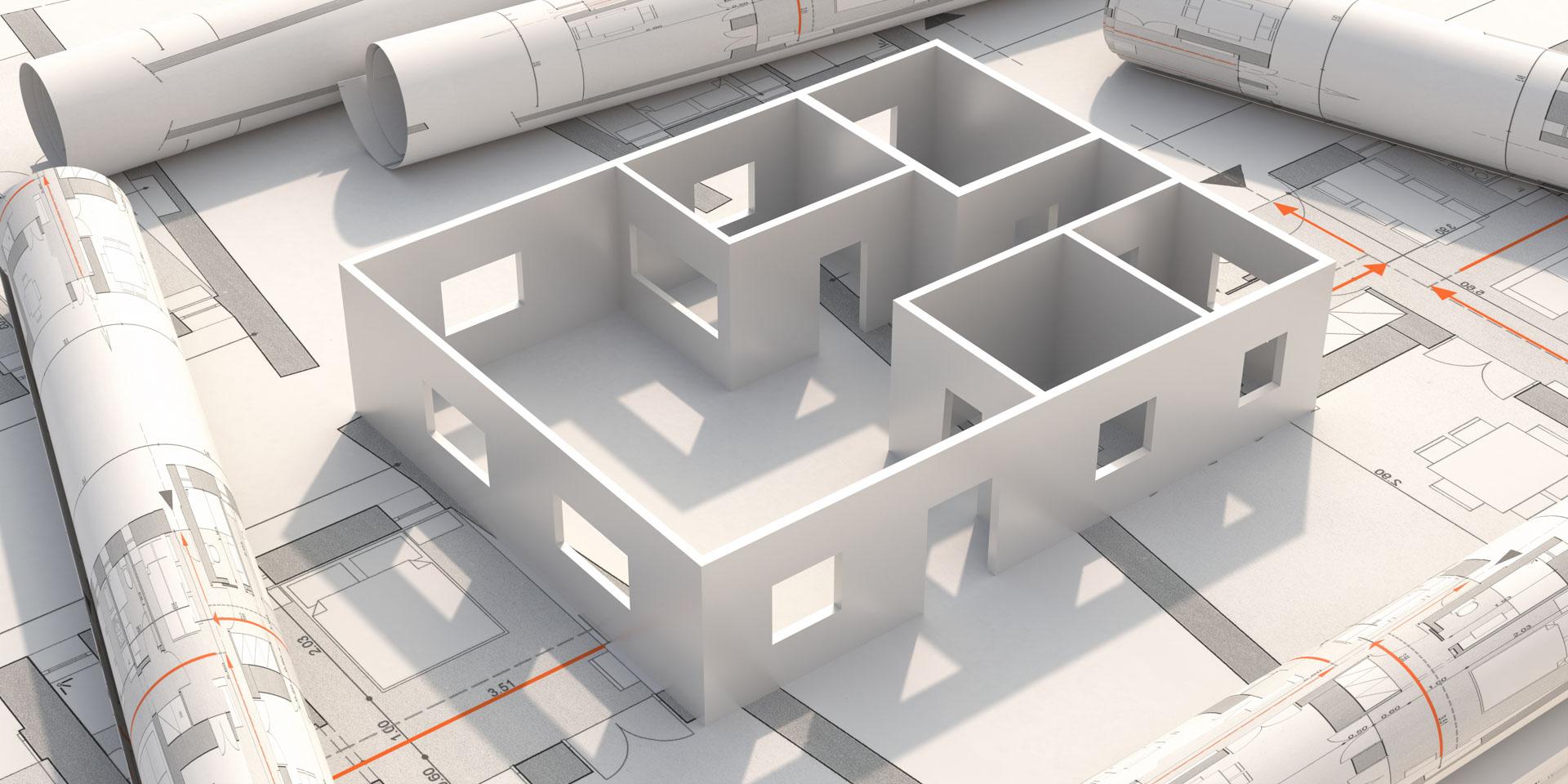3D Grundriss eines Hauses